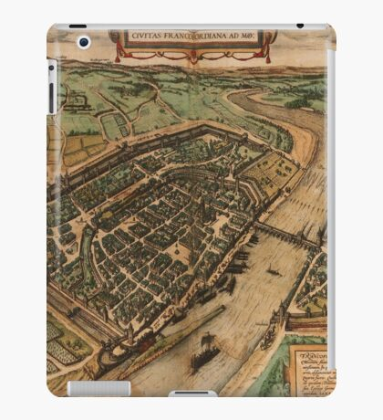 Frankfurt Am Main Vintage map.Geography Germany ,city view,building,political,Lithography,historical fashion,geo design,Cartography,Country,Science,history,urban iPad Case/Skin