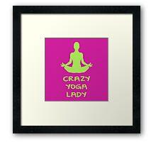 CRAZY YOGA LADY Framed Print