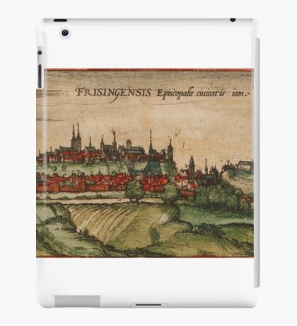 Freising Vintage map.Geography Germany ,city view,building,political,Lithography,historical fashion,geo design,Cartography,Country,Science,history,urban iPad Case/Skin