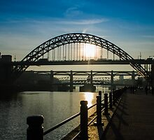 Sunny bridges over the Tyne by Beverly Watson