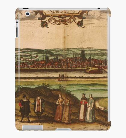 Gdansk Vintage map.Geography Germany ,city view,building,political,Lithography,historical fashion,geo design,Cartography,Country,Science,history,urban iPad Case/Skin