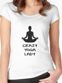 CRAZY YOGA LADY Women's Fitted Scoop T-Shirt