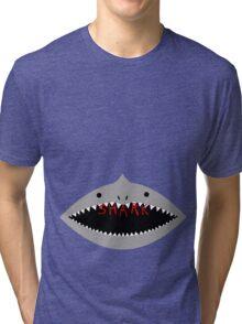 Shark Wrestling (John Tenta) Tri-blend T-Shirt