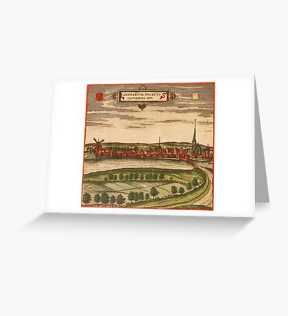 Gennep Vintage map.Geography Netherlands ,city view,building,political,Lithography,historical fashion,geo design,Cartography,Country,Science,history,urban Greeting Card