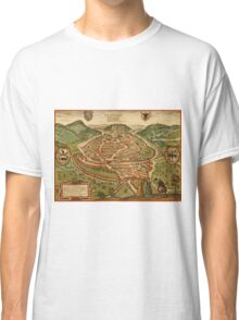 Besancon Vintage map.Geography France ,city view,building,political,Lithography,historical fashion,geo design,Cartography,Country,Science,history,urban Classic T-Shirt