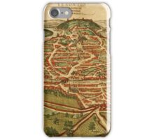 Besancon Vintage map.Geography France ,city view,building,political,Lithography,historical fashion,geo design,Cartography,Country,Science,history,urban iPhone Case/Skin
