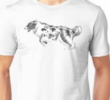 Australian Shepherd Drawing Unisex T-Shirt
