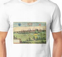 Bethune Vintage map.Geography France ,city view,building,political,Lithography,historical fashion,geo design,Cartography,Country,Science,history,urban Unisex T-Shirt