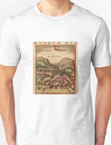 Glarus Vintage map.Geography Switzerland ,city view,building,political,Lithography,historical fashion,geo design,Cartography,Country,Science,history,urban Unisex T-Shirt