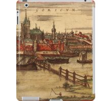 Gorinchem Vintage map.Geography Netherlands ,city view,building,political,Lithography,historical fashion,geo design,Cartography,Country,Science,history,urban iPad Case/Skin