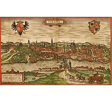Gorlitz Vintage map.Geography Germany ,city view,building,political,Lithography,historical fashion,geo design,Cartography,Country,Science,history,urban Photographic Print