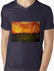 Glittery sunset Mens V-Neck T-Shirt