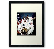 Astronaut Pug Framed Print