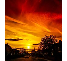 Glorious Sunset over York Street Photographic Print
