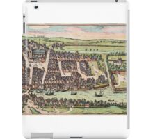 Haderslev Vintage map.Geography Netherlands ,city view,building,political,Lithography,historical fashion,geo design,Cartography,Country,Science,history,urban iPad Case/Skin