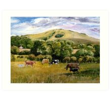 Wolstonbury Hill by Mary Faux Jackson Art Print