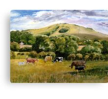 Wolstonbury Hill by Mary Faux Jackson Canvas Print