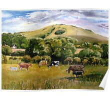 Wolstonbury Hill by Mary Faux Jackson Poster