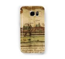 Hamburg Vintage map.Geography Germany ,city view,building,political,Lithography,historical fashion,geo design,Cartography,Country,Science,history,urban Samsung Galaxy Case/Skin