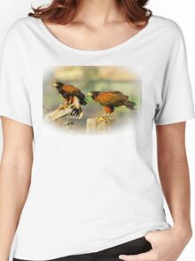 Pair of Harris Hawks Women's Relaxed Fit T-Shirt