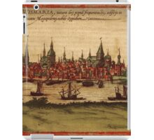 Hansa Vintage map.Geography Sweden ,city view,building,political,Lithography,historical fashion,geo design,Cartography,Country,Science,history,urban iPad Case/Skin