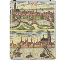 Harderwijk Vintage map.Geography Netherlands ,city view,building,political,Lithography,historical fashion,geo design,Cartography,Country,Science,history,urban iPad Case/Skin