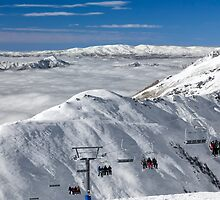 Above the Clouds at Treble Cone 2 by Charles Kosina