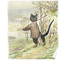 Hunting Black Cat by Beatrix Potter Poster