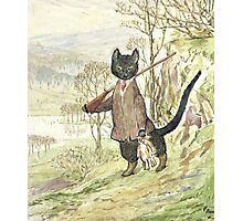 Hunting Black Cat by Beatrix Potter Photographic Print