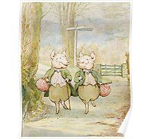 2 little pigs by Beatrix Potter Poster