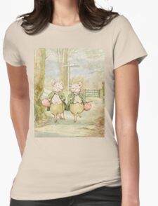 2 little pigs by Beatrix Potter Womens Fitted T-Shirt