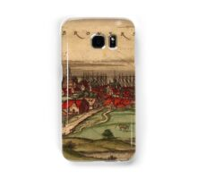 Brouwershaven Vintage map.Geography Netherlands ,city view,building,political,Lithography,historical fashion,geo design,Cartography,Country,Science,history,urban Samsung Galaxy Case/Skin