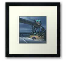 Incident On The Edge Of Town Framed Print