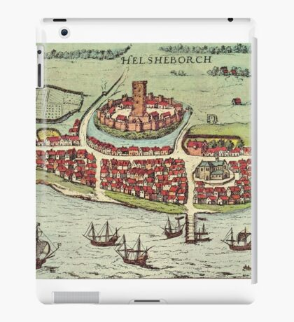 Helsinborg Vintage map.Geography Sweden ,city view,building,political,Lithography,historical fashion,geo design,Cartography,Country,Science,history,urban iPad Case/Skin