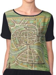 Bristol Vintage map.Geography Great Britain ,city view,building,political,Lithography,historical fashion,geo design,Cartography,Country,Science,history,urban Chiffon Top