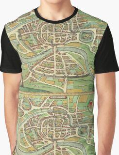 Bristol Vintage map.Geography Great Britain ,city view,building,political,Lithography,historical fashion,geo design,Cartography,Country,Science,history,urban Graphic T-Shirt