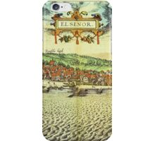 Helsinor Vintage map.Geography Denmark ,city view,building,political,Lithography,historical fashion,geo design,Cartography,Country,Science,history,urban iPhone Case/Skin