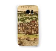 Hormus Vintage map.Geography Germany ,city view,building,political,Lithography,historical fashion,geo design,Cartography,Country,Science,history,urban Samsung Galaxy Case/Skin