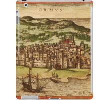 Hormus Vintage map.Geography Germany ,city view,building,political,Lithography,historical fashion,geo design,Cartography,Country,Science,history,urban iPad Case/Skin