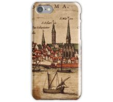 Bremen Vintage map.Geography Germany ,city view,building,political,Lithography,historical fashion,geo design,Cartography,Country,Science,history,urban iPhone Case/Skin