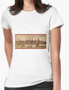 Bremen Vintage map.Geography Germany ,city view,building,political,Lithography,historical fashion,geo design,Cartography,Country,Science,history,urban Womens Fitted T-Shirt