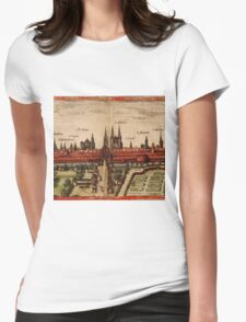 Braunschweig Vintage map.Geography Germany ,city view,building,political,Lithography,historical fashion,geo design,Cartography,Country,Science,history,urban Womens Fitted T-Shirt