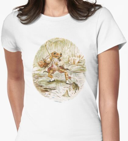 Mr. Jeremy Fisher by Beatrix Potter Womens Fitted T-Shirt