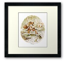 Mr. Jeremy Fisher by Beatrix Potter Framed Print