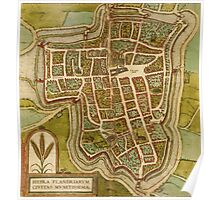 Ieper Vintage map.Geography Belgium ,city view,building,political,Lithography,historical fashion,geo design,Cartography,Country,Science,history,urban Poster