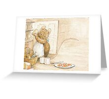 A cute mouse filling her larder by Beatrix Potter Greeting Card