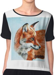 Fox Look Out Chiffon Top