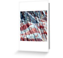 Red, White and Blue Greeting Card
