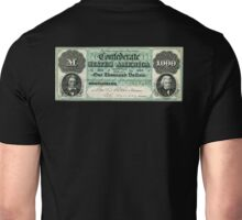 AMERICAN, Civil War, Confederate States, Dollar, $1000, Greyback, America, US, USA Unisex T-Shirt
