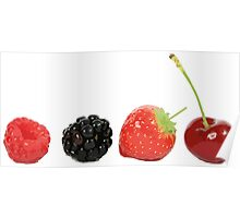 A small assortment of red fruits Poster